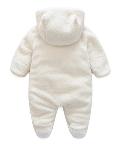 BANGELY Baby Winter Thicken Cartoon Sheep Snowsuit Fleece Hooded Romper Jumpsuit