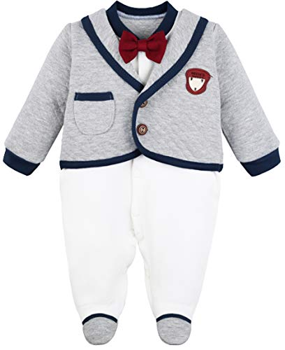 80ebcd06d Footies – Lilax Baby Boy Newborn Gentleman Tuxedo Outfit Footie with Bow  Tie and Hat 2 Piece Set 3M Navy Offers