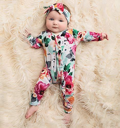 cbcadb2ab11b Rompers – Posh Peanut One Piece Romper Silky Soft   Breathable – Premium  Knit Infant Clothing – Bamboo Viscose (Fuchsia Wild Flower