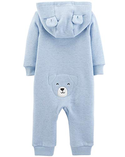Navy Stripe Dog Carter/'s Baby Boy Size 6 Month One Piece Fleece Footed Pajamas