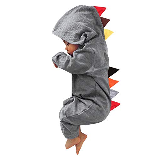 Clearance Toddler Infant Baby Boy Girl Clothes Dinosaur Hooded Romper Jumpsuit Sleepwear Outfits