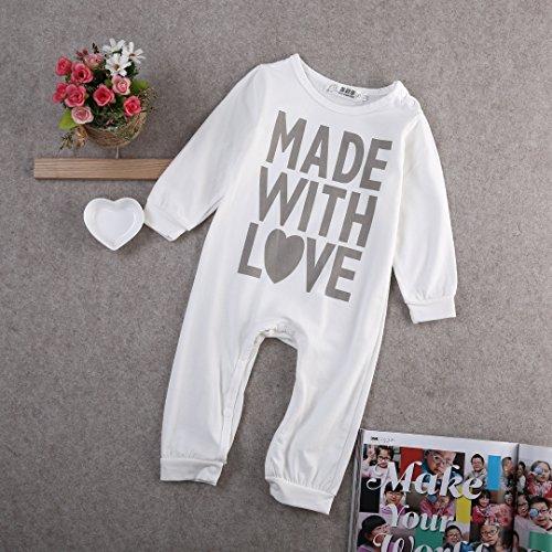 b8d6806d Footies – ONE'S Newborn Infant Baby Girls Boys Heart Love Long Sleeve  Bodysuit Romper Overalls (0-6 Months, White) Offers