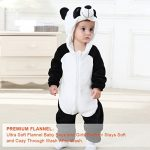TSHSUN Baby Girls Boys Toddler Romper Bear Outfit Flannel Style Jumpsuit Autumn /& Winter Cosplay Clothes 19-24 Months, Brown
