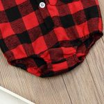 040675b67ed4 The Newborn Baby Boys Girls Christmas Plaid Cardigan Romper Christmas  Outfit Moose Embroidery (Red, 6-12 Months) Price :