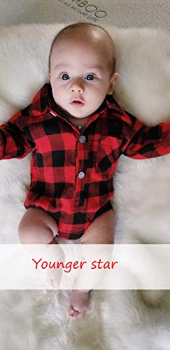 3c72ff285ab7 Rompers – Newborn Baby Boys Girls Christmas Plaid Cardigan Romper Christmas  Outfit Moose Embroidery (Red, 6-12 Months)   Baby Boys Footies And Rompers