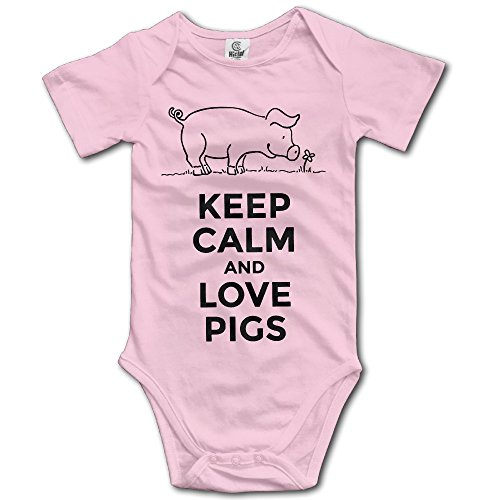 Keep Calm and Love Cows Newborn Infant Toddler Baby Girls Boys Bodysuit Short Sleeve 0-24 MonthsBlack